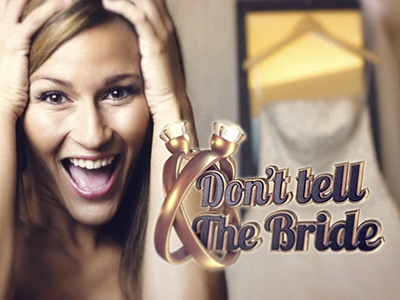 Don't tell th Bride ring diamonds gold motion 3d bride wedding texture after effects motion design element 3d