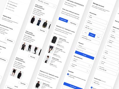 My Account on E-commerce 👨🦲 myze grid form address book responsive shopify shop e-commerce design woocommerce e-commerce my account mobile webdesign ux ui
