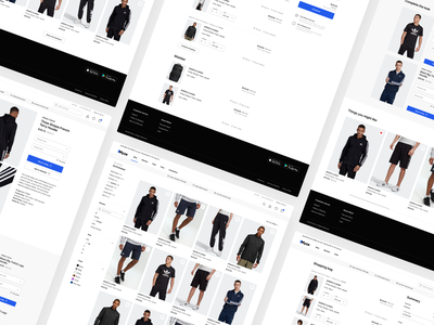 Essential views for E-commerce 🛍 mobile shop responsive design mobile design summary checkout filters slider design product page product list shop shopify woocommerce e-commerce shopping bag myze webdesign ux ui