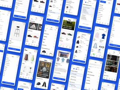 E-commerce mobile app 📱 mobile app design mobile ui app ux ui grid showcase buttons product page mobile design mobile app mobile shopify woocommerce e-commerce myze