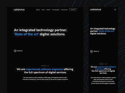 Software House Website 💻 typography grid design mobile website responsive website darktheme dark ui landing page hero contact us dark mode landing webdesign ux ui