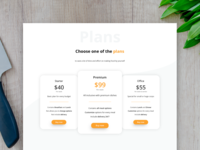 Food.io - Choose a plan 👨🍳