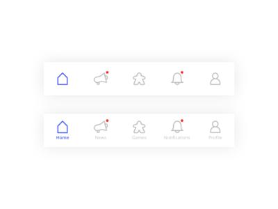 Bottom app design for zagramw.to app