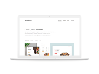 wodziczka.pl - My first portfolio website