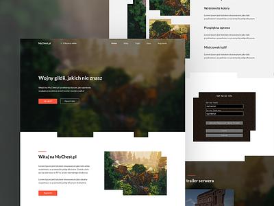 ⛏💎 MyChest - Landing page buttons navbar hero minecraft game footer web  design web page home design mobile grid cta landing webdesign ux ui