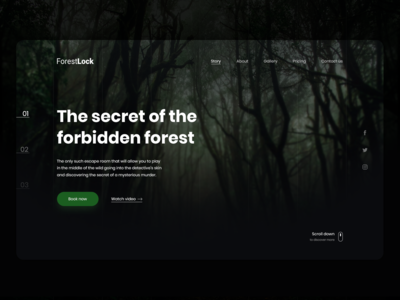 🌲 ForestLock - Hero escape room website