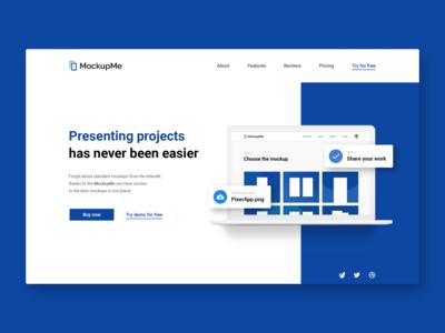 ⏩ MockupMe - Website hero