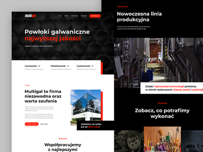 🔴 Multigal - Homepage home page industry galvanization map contact footer gallery offer button hero landing product design webdesign ux ui