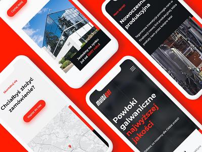 🔴 Multigal - Mobile version hamburger menu hero contact sections button responsive mobile page home landing webdesign grid design ux ui