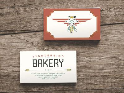 Thunderbird Bakery Business Cards graphic design bird marketing branding logo identity business cards