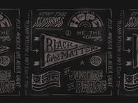 BLACK LIVES MATTER retro apparel design t-shirt design hand drawn procreate grunge typography illustration vintage hand lettering blm black lives matter