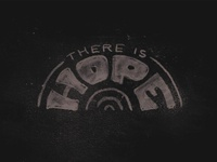 THERE IS HOPE retro hand drawn handlettering procreate vintage custom lettering hope black lives matter blm