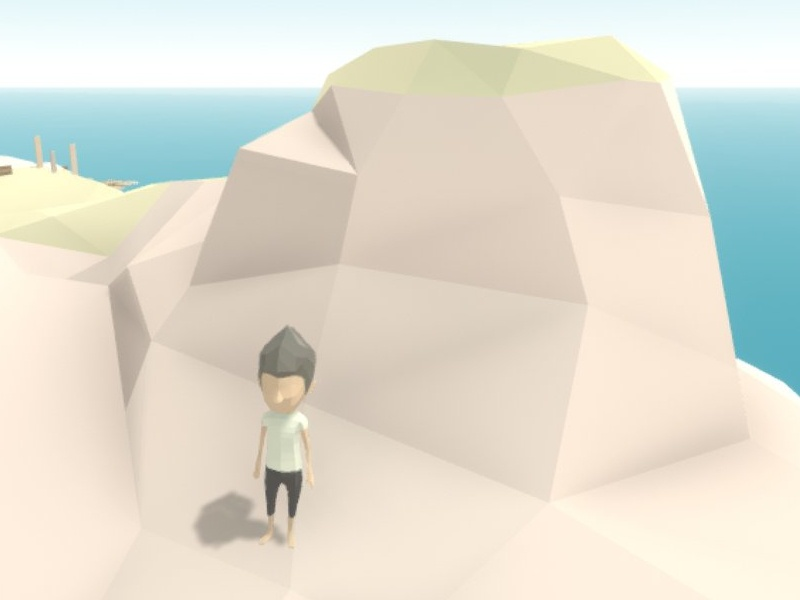 Lowpoly ground character unity game ground lowpoly