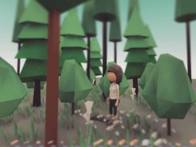 A girl in Feelin game world