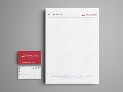 Malp Mock5 letterhead business card logo rebrand attorney law branding
