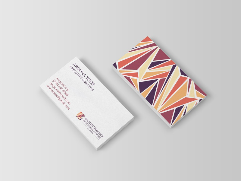 MWPN Business Card stationery woman muslim muslim organization brand woman empowerment illustration logo design branding business card