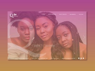 Spa Qsthetics - Homepage Design websites salon design website concept homepage homepage design website design web design website brand branding