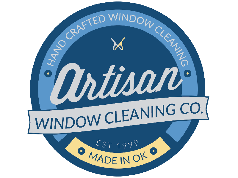 Artisan Window Cleaning ~ by Wooster Creative illustration water oklahoma craftsman windows branding hand-crafted logo design
