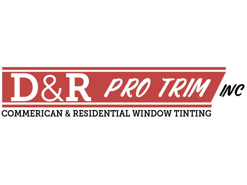D&R ProTrim - Commercial & Residential Window Tinting scrip fonts oklahoma branding window tinting logo