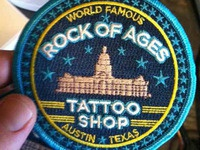 Rock Of Ages Tattoo Patch
