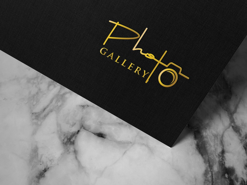 Photography logo design minimalist flat logo