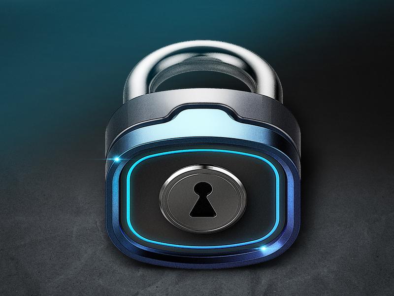 Icon Lock 3d photoshop icon design