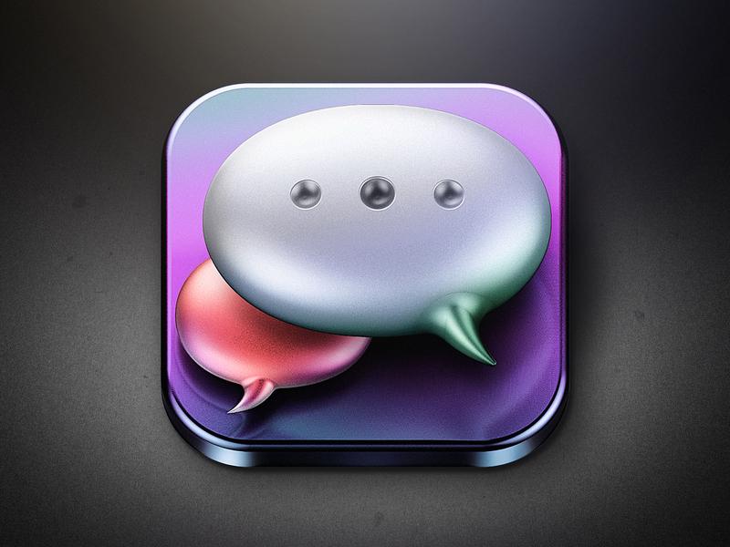 Icon_Talk Bubble ui icon design design c4d photoshop 3d icon