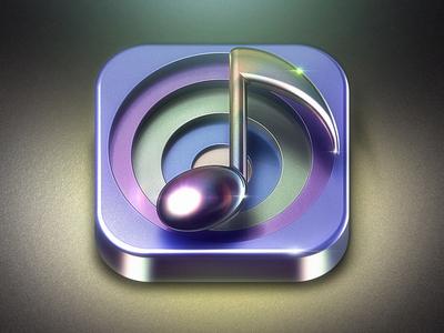 N Musical note ui logo icon design c4d 3d icon photoshop design
