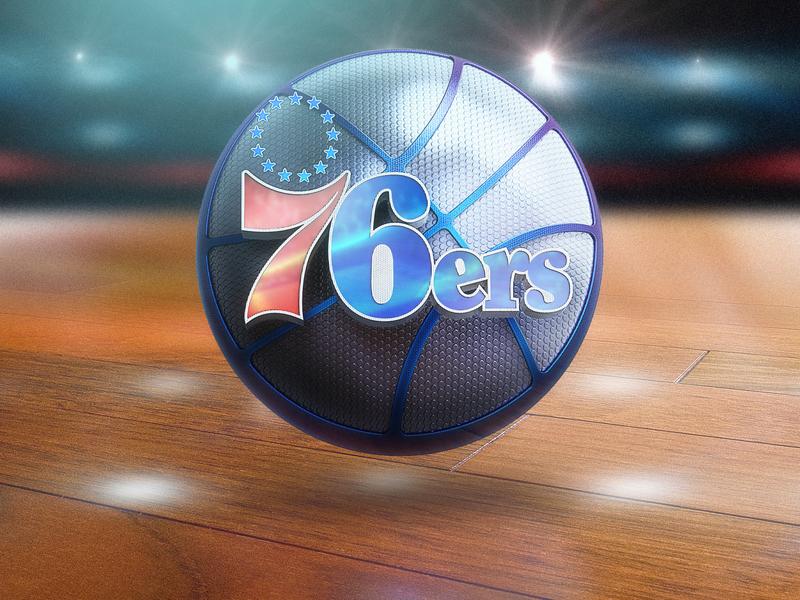 76ers logo sixers metal ui basketball logo basketball app logo icon design c4d 3d illustration photoshop icon design 76ers