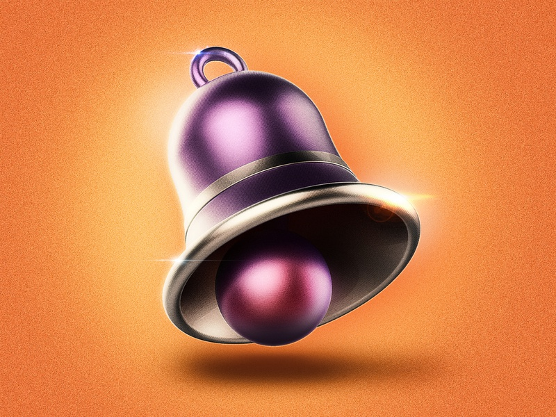 Icon Bell bell vector ux typography metal app ui logo icon design c4d illustration 3d photoshop icon design