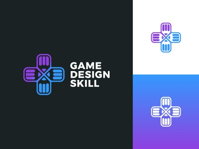Game Design Skill d-pad gaming pencil game games typography icon graphic design modern logo design logo brand branding minimal design