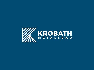 Krobath door window construction letter k typography clean flat modern graphic design logo design logo branding brand minimal design