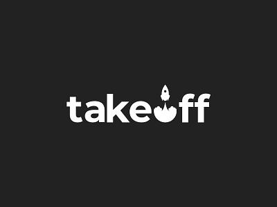 takeoff bomb rocket advertising internet typography flat clean modern graphic design logo design minimal logo branding brand design