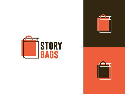 Story Bags bags bookmark story bag book retail clean typography modern graphic design logo design minimal logo branding brand design