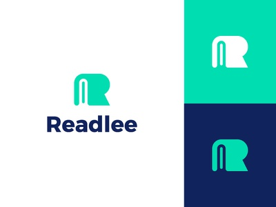 Readlee read r book knowledge reading clever smart modern clever education typography clean modern graphic design logo design minimal logo branding brand design