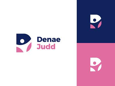 Denae Judd colorful joy person happy typography flat clean modern logo design graphic design logo minimal branding brand design
