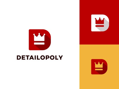 Detailopoly high end king prestige crown automative typography flat clean modern logo design graphic design logo minimal branding brand design
