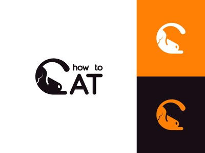 How to cat merchandise videos cute cat pet animal typography flat clean modern logo design graphic design logo minimal branding brand design