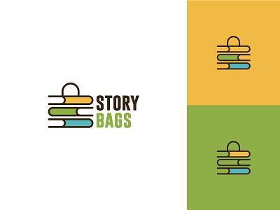 Story Bags v2 books store shop bags story flat clean modern logo design graphic design logo minimal branding brand design
