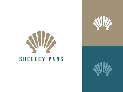 Shelley Pans beach home house logo shell sea mortgage real estate flat typography clean modern logo design graphic design minimal logo branding brand design
