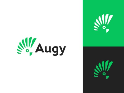 Augy finance software parrot bird fintech consultancy consulting flat clean modern logo design graphic design minimal logo branding brand design