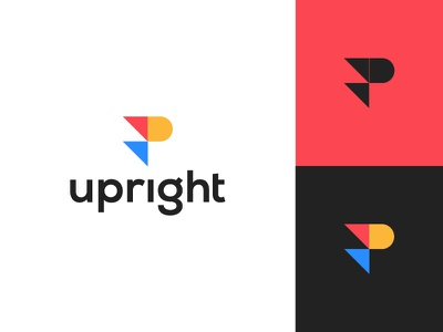 Upright abstract up communication typogaphy arrow flat clean modern logo design graphic design minimal logo branding brand design