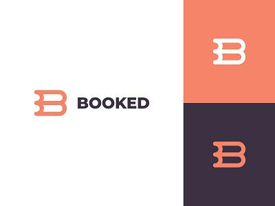 Booked picnic planning event flat clean modern logo design graphic design minimal logo branding brand design