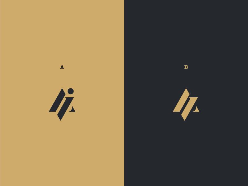 Monogram typography flat modern minimal logo design logo graphic design design clean branding brand
