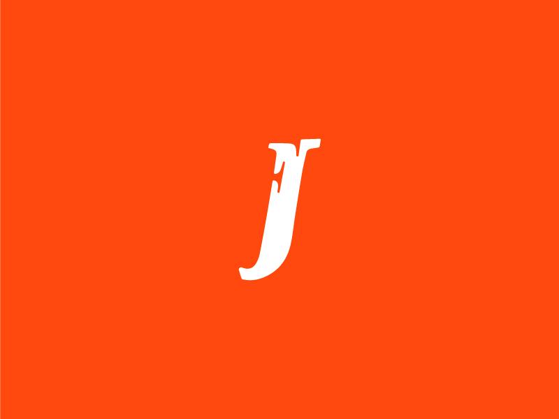 Fj Monogram typography icon vector monogram fj graphic design logo design modern flat clean branding brand logo minimal design