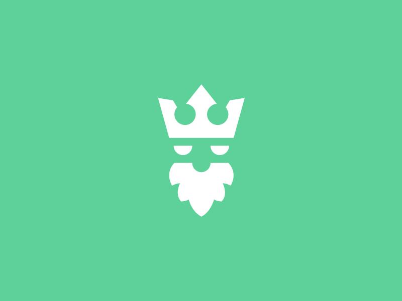 Angry King crown king illustration icon vector graphic design logo design modern flat clean logo branding brand minimal design