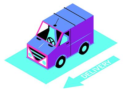Isometric van arrow flat design delivery geometric design design illustrator vector vector illustration vector art illustration van illustration van car isometric car isometric illustration isometric isometry
