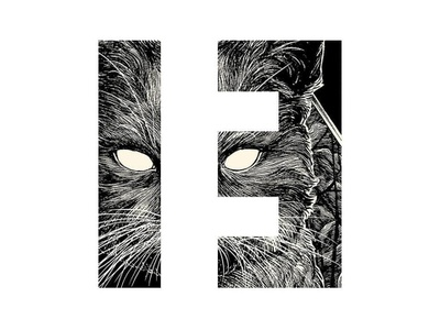 THETREIZE #3 logo black and white photoshop design creation cat typography