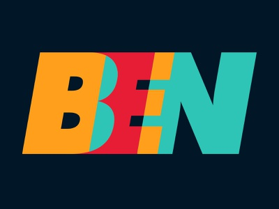 BEN - Application logo rework logo alphabet rework prototype logo fun branding typography photoshop design creation