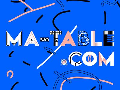 ma-table.com brand identity surrealism surreal art illustration ui ux branding creation photoshop design logo logotypedesign logotype brand and identity brand